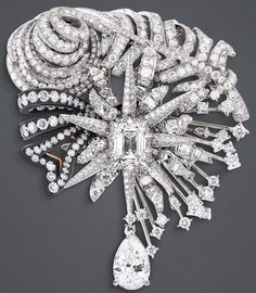 """DIOR. """"Salon d'Apollon"""" brooch in white and pink gold, scorched silver and…"""