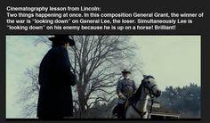 Lincoln cinematography lesson. Gracias Spielberg.