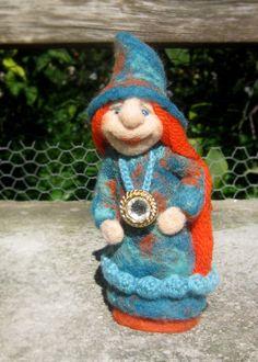 Chloe, needle felted art doll