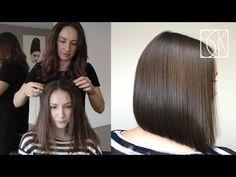 Come tagliare i capelli a casa? Ecco 12 semplici tutorial con immagini e video per imparare a tagliare i capelli da sola o con l'aiuto di qualche familiare Easy Hair Cuts, Curly Hair Cuts, Cut My Hair, Asian Haircut, Diy Haircut, Aline Bob Haircuts, Long Blunt Haircut, Hair Cutting Techniques, Medium Hair Styles