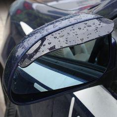 Flexible PVC Car Side Mirror Rain Shade - $6