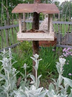 Bring me SPRING! Sweet Liberty primitive bird feeder and country herb garden