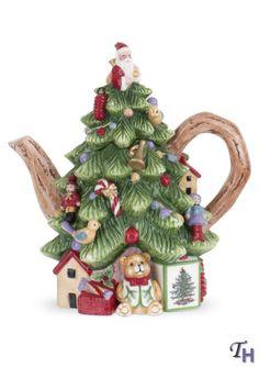 Spode Christmas Tree New Christmas Tree Shape Teapot 8