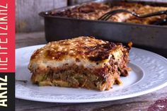 Authentic Greek Moussaka | ArmGusto Chef Recipes, Sweets Recipes, Greek Recipes, Cooking Recipes, Greek Cooking, Cooking Time, Moussaka Recipe, Sour Foods, Cooking Tomatoes