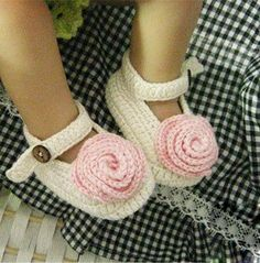 I need another baby just so I can buy these shoes!  White Crochet Baby Shoes Knite Baby Crib Shoes Knitting Girls Shoes with Flower for 0-12 month babies (LS58)