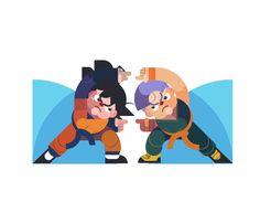 Artista Ilustra Personajes de Dragon Ball Z en Increíbles Animaciones Tipo Gifs | FuriaMag | Arts Magazine
