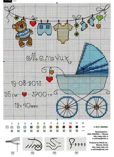 Risultati immagini per cross stitch baby Baby Cross Stitch Patterns, Cross Stitch For Kids, Cross Stitch Baby, Cross Stitch Charts, Cross Stitch Designs, Cross Stitching, Cross Stitch Embroidery, Embroidery Patterns, Hand Embroidery