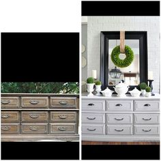 Before & After:  recycled, repurposed dresser