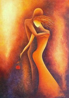 LOVERS - © 2007 Anita Burnaz - Painting Online Artworks