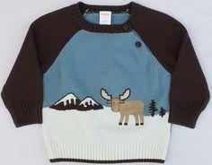 Gymboree Winter Moose Fuzzy Moose Winter Scene Pullover Sweater Sz 12-18 MON NWT #Gymboree #Pullover #DressyEverydayHoliday