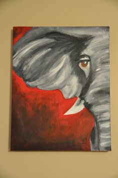 elephant painting by brittanysartshop on Etsy