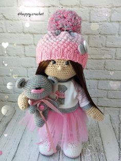 Купить Мисс Ми - бледно-розовый, мишка тедди, мишка, кукла в подарок, кукла