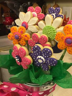 Flower Cookie Bouquet / Mother's Day Cookies by The Green Lane Baker