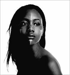 Black beauty with tribal markings