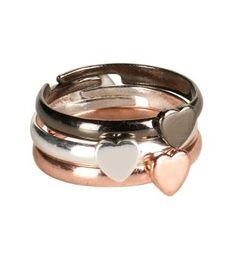 Heart Ring 3-Pack - Aeropostale