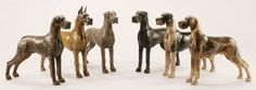 Louise Peterson - The Great Dane, miniature bronze edition
