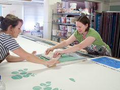 yardage printing classes at Ink & Spindle by Ink & Spindle, via Flickr