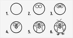 10 desenhos fáceis com círculos para fazer com as crianças! - Just Real Moms