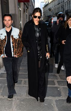 Model Alessandra Ambrosio, wearing the #Dsquared2 maxi coat from #FW16 Women Collection in Paris. #D2Celebrities #AlessandraAmbrosio