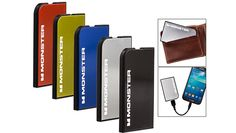 Monster PowerCard Ultra-Thin Credit Card Size Portable Battery – Choice of 5 Colors!