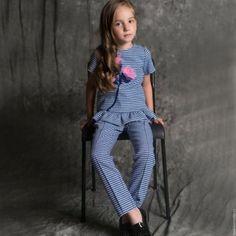 """Одежда для девочек, ручной работы. Заказать Брючный костюм """"Аленький цветочек"""". Детская одежда 'MARGOstyle'. Ярмарка Мастеров. Для девочки"""