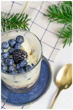 Käsekuchen weiße Schokolade Spekualtius Blaubeeren - Cheescake white Chocolate Blueberries