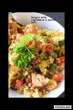 Bulgur  with vegetables & spicey tofu