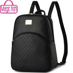 gt  gt Save onMagic fish! brand women backpack school bags leather  backpack ecbea93d80c84