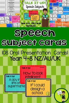 how to speech ideas for kids