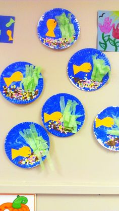 Paper plate craft, under the sea, ocean week, fish week etc