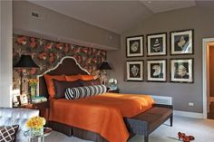 Autumn-Inspired Rooms - A Pair of Strengths  on HomePortfolio -Fall Bedroom