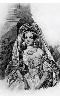 1836, russische Hofkleidung