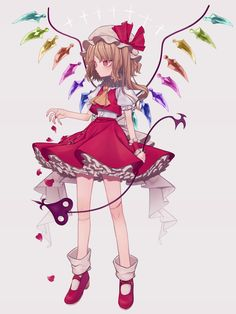Touhou Project- Flandre Scarlet artwork by Marimo Tarou
