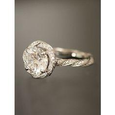 Michael B. Diamond Twist Shank Engagement Ring