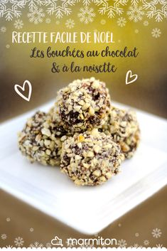 Homemade chocolate truffles for Christmas To accompany coffee, we love this easy chocolate truffle and hazelnut recipe! Hazelnut Recipes, Homemade Chocolate, Vegan Chocolate, Chocolate Recipes, Chocolate Truffles, Nutella, Food Stamps, Cooker Recipes, Gummi Candy