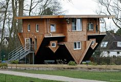 casas-viradas Getorff, Alemanha.