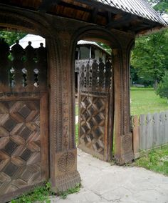 Romania traditional romanian gate