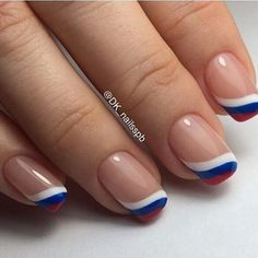 May 2019 - french nails design Short French Nail Designs, Nail Art Designs, French Nails, French Manicures, Patriotic Nails, Fingernail Designs, Pretty Nail Art, Super Nails, Hot Nails