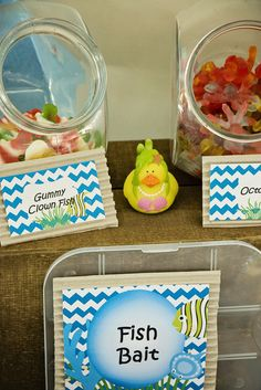 Candy at an Under the Sea Party #underthesea #partycandy