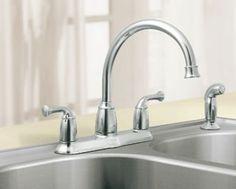 2-Handle kitchen faucet by Moen.