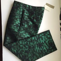 JCrew evergreen jacquard pants Brand new, available also in size 4 and 6 J. Crew Pants Ankle & Cropped