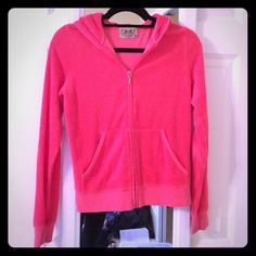 Juicy Couture Neon Pink Terry Cloth Jacket