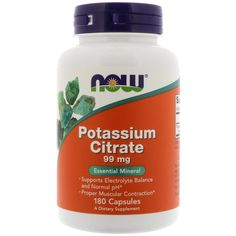 Now Foods, Potassium Citrate, 99 mg, 180 Capsules - iHerb for women ph balance Best Weight Loss Supplement, Weight Loss Supplements, Nutrition Plans, Nutrition Education, Nutrition Classes, Nutrition Tips, Pregnant Nurse, Acid Base Balance, Broccoli Nutrition