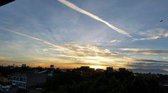 Amanecer #puesta del sol #blue #yellow #cloud