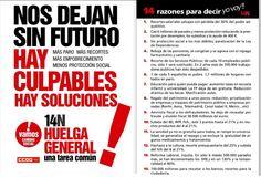 10 razones para ir a la Huelga General #14N