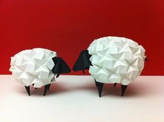 cute origami sheeps
