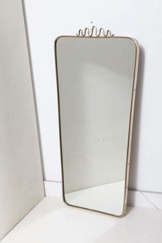 Good Mirror The 60er Rockabilly Pattern Rectangular Wood Wall Mirror Other Reproduction Furniture Antiques