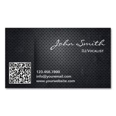 2187 best qr code business card templates images on pinterest black metal qr code dj music business card cheaphphosting Choice Image