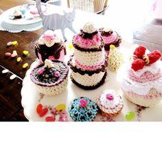 Crochet food: cakes