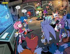 In English: Amy: Thank you all for coming so fast. Sonic: Yes, we are going to need them all. Sonic Mania, Sonic 3, Sonic And Amy, Sonic And Shadow, Sonic Fan Art, Sonic The Hedgehog, Silver The Hedgehog, Shadow The Hedgehog, Sonic Boom Tails